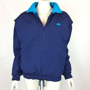 Nike Navy Blue Half Zip Kangaroo Pocket Jacket
